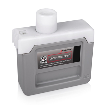 Logic-Seek 2 Tintenpatronen kompatibel zu Canon PFI-302MBK 2215B001 XL Matt Schwarz