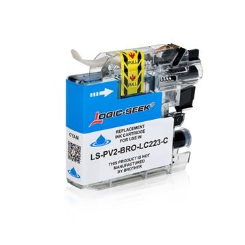 Logic-Seek  Tintenpatrone kompatibel zu Brother LC-223C XL Cyan