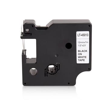 LS 2 Schriftbänder für Dymo 45013 12mm bk/weiß