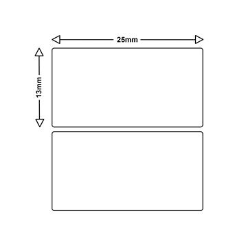 LS Etiketten für Dymo 11353 S0722530 13x25mm