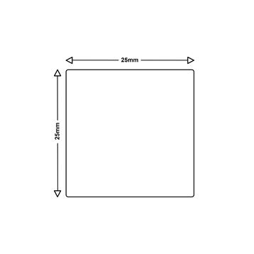 Logic-Seek 1x Etiketten kompatibel zu Dymo S0929120, 25mm x 25mm