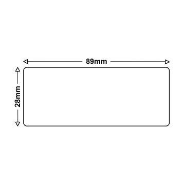LS 4 Etiketten für Dymo 99010 S0722370 28x89mm