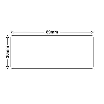 LS 2 Etiketten für Dymo 99012 S0722400 36x89mm
