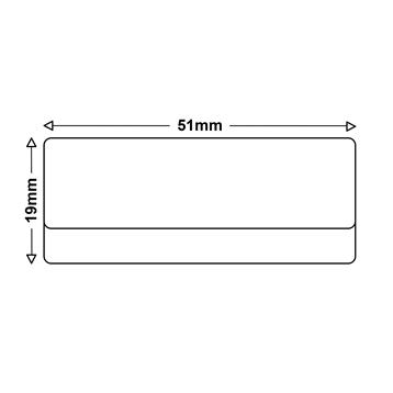 Logic-Seek 5x Etiketten kompatibel zu Dymo S0722550, 19mm x 51mm