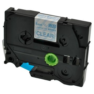 Logic-Seek 1x Schriftband kompatibel zu Brother TZE-113, Blau auf Transparent, 6mm x 8m