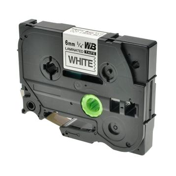 Logic-Seek 1x Schriftband kompatibel zu Brother TZE-211, Schwarz auf Weiss, 6mm x 8m