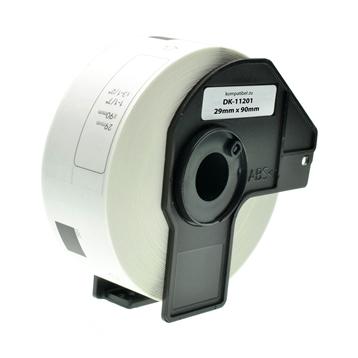 Logic-Seek 10x Etiketten kompatibel zu Brother DK-11201, 29mm x 90mm