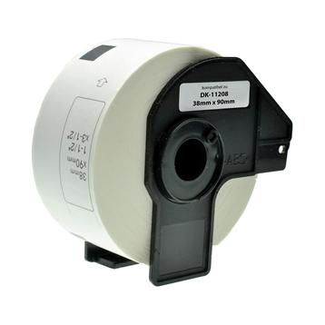 Logic-Seek 10x Etiketten kompatibel zu Brother DK-11208, 38mm x 90mm