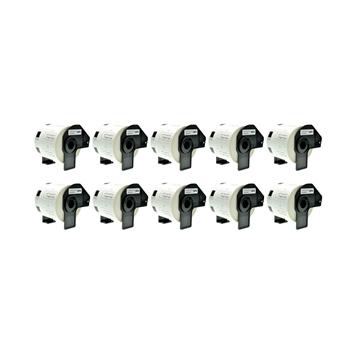 Logic-Seek 10x Etiketten kompatibel zu Brother DK-11209, 29mm x 62mm