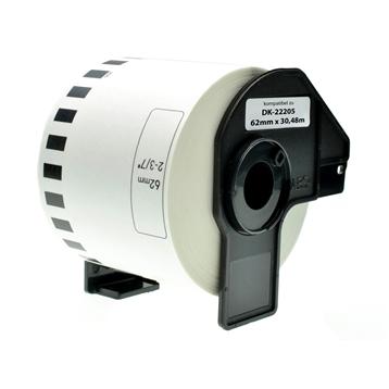 Logic-Seek 1x Etikett kompatibel zu Brother DK-22205, 62mm x 30.48m