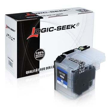 Logic-Seek  Tintenpatrone kompatibel zu Brother LC-12EBK XL Schwarz