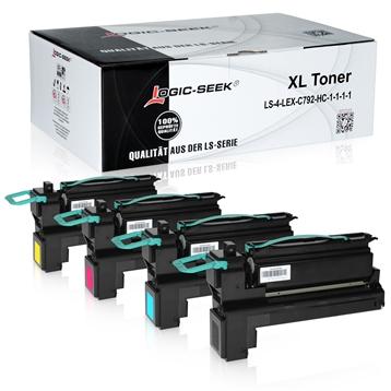 Logic-Seek 4 Toner kompatibel zu Lexmark C792 HC