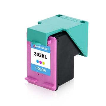 Logic-Seek  Tintenpatrone kompatibel zu HP 302XL F6U67AE XL Color