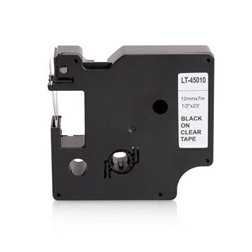 LS 5 Schriftbänder für Dymo 45010 12mm bk/klar