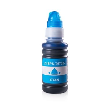 Logic-Seek  Tintenpatrone kompatibel zu Epson T6732 C13T67324A Cyan