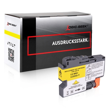 Logic-Seek  Tintenpatrone kompatibel zu Brother LC-3233Y Yellow