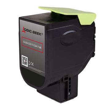 Logic-Seek  Toner kompatibel zu Lexmark CS317 71B0010 HC Schwarz