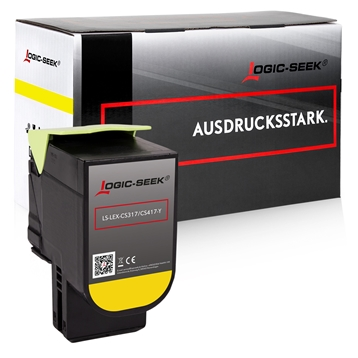 Logic-Seek  Toner kompatibel zu Lexmark CS317 71B0040 HC Yellow