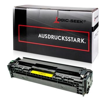 Logic-Seek  Toner kompatibel zu HP 125A CB542A HC Yellow