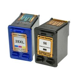 Logic-Seek 2 Tintenpatronen kompatibel zu HP 56 28 XL