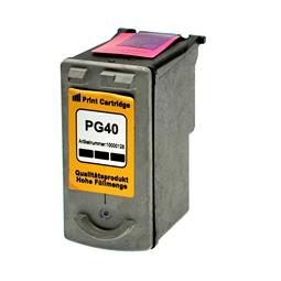 Logic-Seek  Tintenpatrone kompatibel zu Canon PG-40 0615B001 XL Schwarz