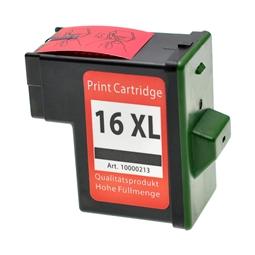 Logic-Seek  Tintenpatrone kompatibel zu Lexmark 16 10N0016E XL Schwarz