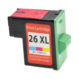 Logic-Seek  Tintenpatrone kompatibel zu Lexmark 26 10N0026E XL Color