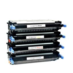 Logic-Seek 4 Toner kompatibel zu HP Q6470A-Q6473A 3600 HC
