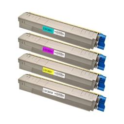 Logic-Seek 4 Toner kompatibel zu OKI C8600 C8800 HC