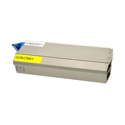 Logic-Seek  Toner kompatibel zu OKI C7000 41304209 HC Yellow