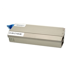 Logic-Seek  Toner kompatibel zu OKI C7100 41963008 HC Schwarz