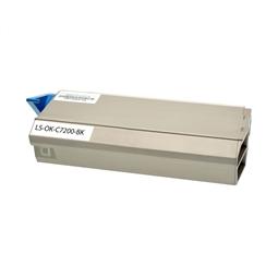 Logic-Seek  Toner kompatibel zu OKI C7200 41304212 HC Schwarz