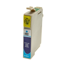Logic-Seek  Tintenpatrone kompatibel zu Epson Stylus R265 T0805 C13T08054011 XL Photo Cyan