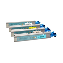 Logic-Seek 4 Toner kompatibel zu OKI C3300 C3450 HC