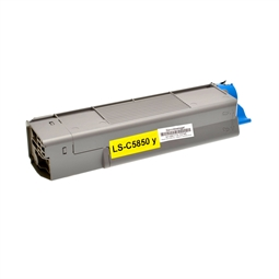 Logic-Seek  Toner kompatibel zu OKI C5850 43865721 HC Yellow