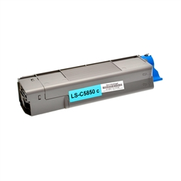 Logic-Seek  Toner kompatibel zu OKI C5850 43865723 HC Cyan