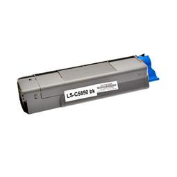 Logic-Seek  Toner kompatibel zu OKI C5850 43865724 HC Schwarz