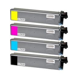Logic-Seek 4 Toner kompatibel zu Kyocera TK-520 HC