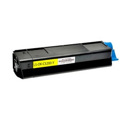 Logic-Seek  Toner kompatibel zu OKI C5200 42804505 HC Yellow