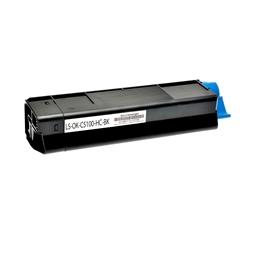 Logic-Seek  Toner kompatibel zu OKI C5100 42127408 HC Schwarz