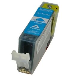 Logic-Seek  Tintenpatrone kompatibel zu Canon CLI-526C 4541B001 XL Cyan