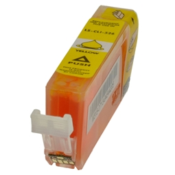 Logic-Seek  Tintenpatrone kompatibel zu Canon CLI-526Y 4543B001 XL Yellow