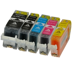 Logic-Seek 5 Tintenpatronen kompatibel zu Canon PGI-525 CLI-526 XL