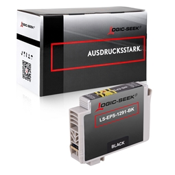Logic-Seek  Tintenpatrone kompatibel zu Epson Stylus SX230 T1291 C13T12914010 XL Schwarz
