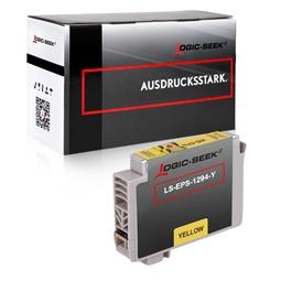 Logic-Seek  Tintenpatrone kompatibel zu Epson Stylus SX230 T1294 C13T12944010 XL Yellow