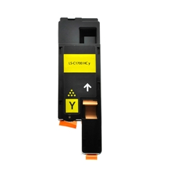 Logic-Seek  Toner kompatibel zu Epson C1700 0611 C13S050611 HC Yellow
