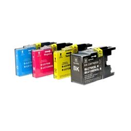 Logic-Seek 4 Tintenpatronen kompatibel zu Brother LC-1280 XL