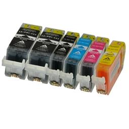 Logic-Seek 6 Tintenpatronen kompatibel zu Canon PGI-525 CLI-526 XL