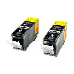 Logic-Seek 2 Tintenpatronen kompatibel zu Canon PGI-520PGBK 2932B001 XL Schwarz