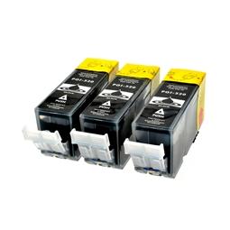 Logic-Seek 3 Tintenpatronen kompatibel zu Canon PGI-520PGBK 2932B001 XL Schwarz